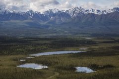 The Wrangell Mountains on the border of the Tetlin National Wildlife Refuge in Alaska.
